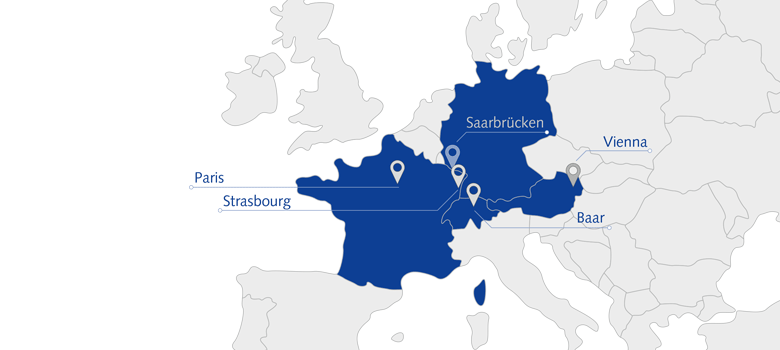 European sites of ORBIS AG in France, Austria and Switzerland
