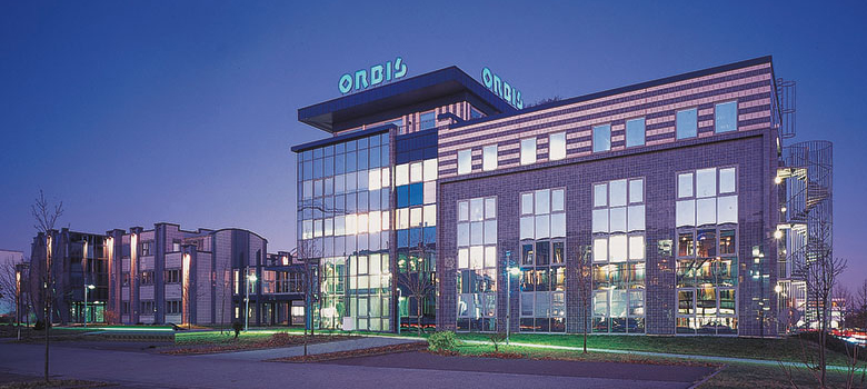 Exterior view of the main building of ORBIS AG